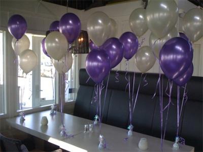 Ballonnen tros helium for Ballonnen versiering zelf maken